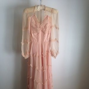 Other - Girls Vintage 50s 60s Formal Long Dress Dusty Pink